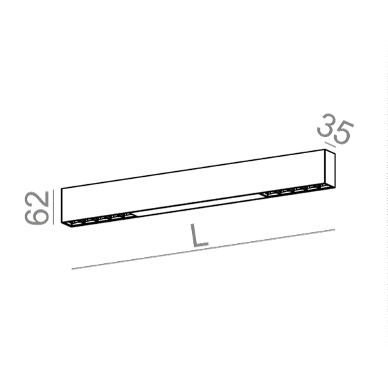 AQForm Rafter points section 54 cm biały Lampa Sufitowa