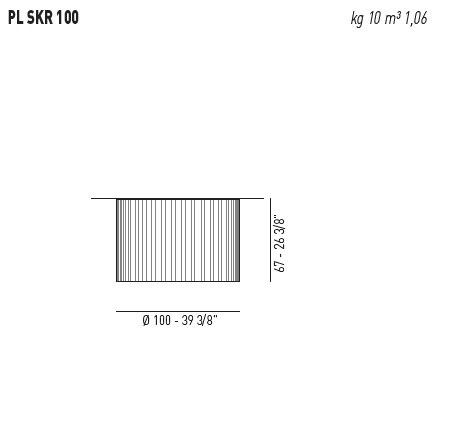 AXO Light Skirt PL 100 Plafon biały 100 cm