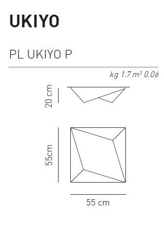 AXO Light Ukiyo PL P nowoczesna Lampa Sufitowa biała 55 cm