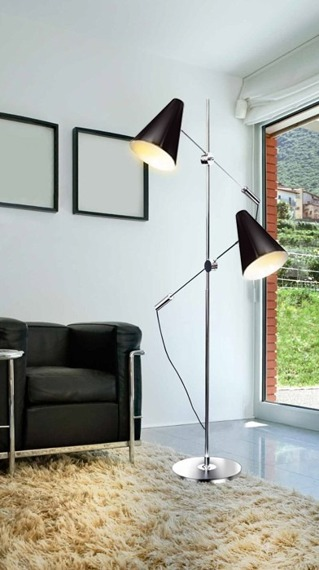 AZzardo Kaja black FL-13054 Lampa Podłogowa