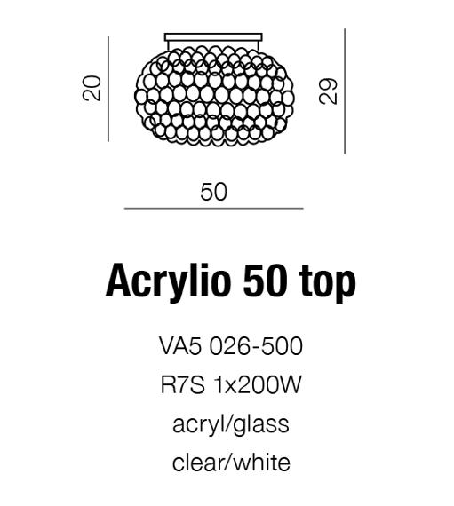 Acrylio 50 Top Plafon AZZARDO AZ0053