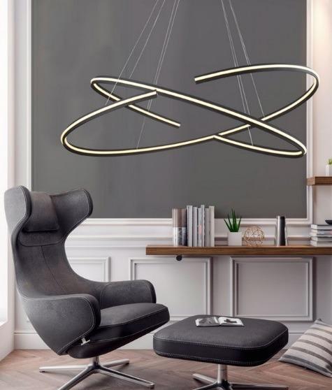 Azzardo Alessia XL AZ3356 Lampa wisząca LED czarna