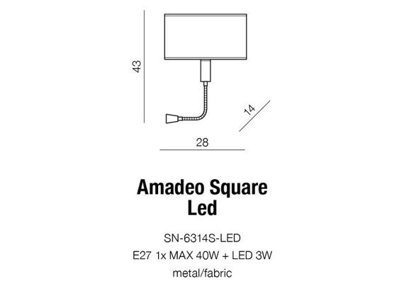 Azzardo Amadeo SN-6314S-LED Kinkiet