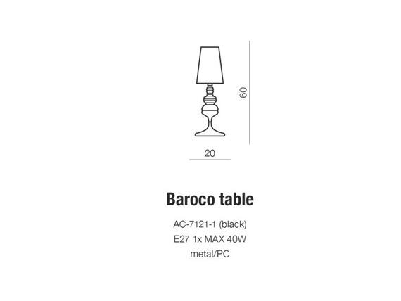 Azzardo Baroco AC-7121-1 Lampka
