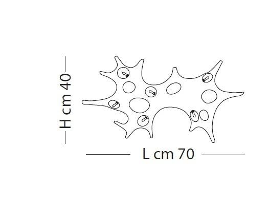 BAOBAB LP 1057/40 złoto platynowe Lampa Sufitowa/Lampa Ścienna Lampade Italiane