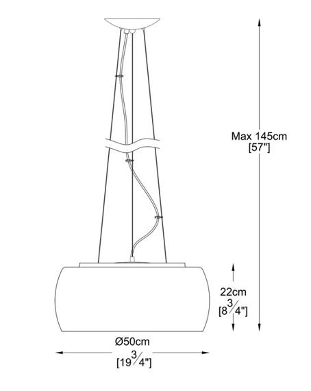 CRYSTAL Zuma Line P0076-06X Lampa Wisząca