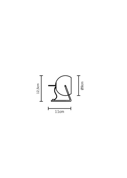 Fabbian BELUGA STEEL D57 B05 15 Lampka