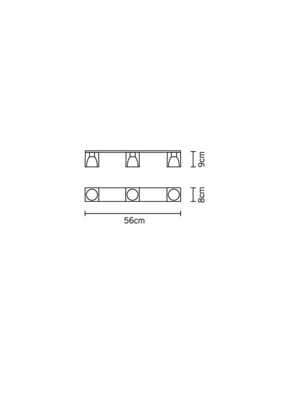 Fabbian CUBETTO CRYSTAL D28 E03 00 Plafon