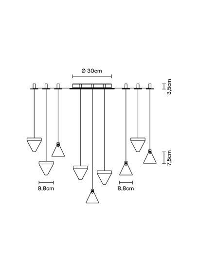 Fabbian Tripla F41 G05 76 Lampa wisząca