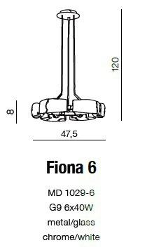 Fiona 6 MD 1029-6 Lampa Wisząca AZZARDO