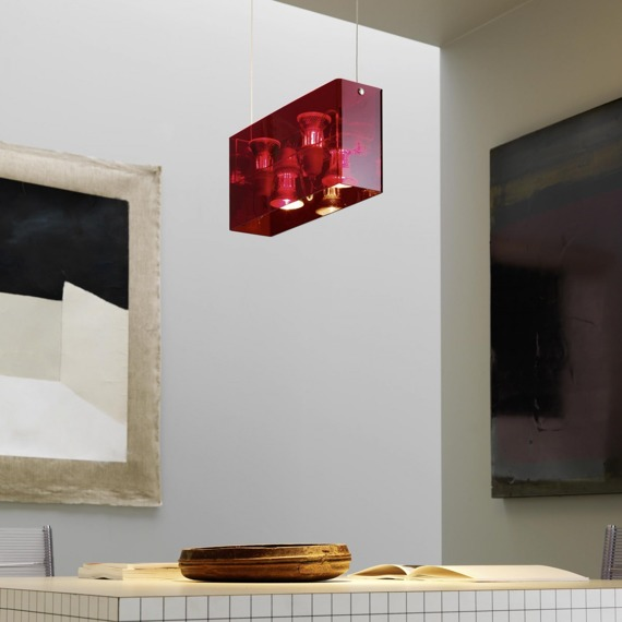 Fontana Arte Duplex 5301/1 RED lampa wisząca