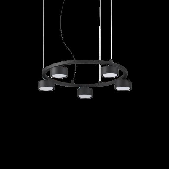 Ideal Lux Minor Round SP5 Żyrandol okrągły nad stół czarny
