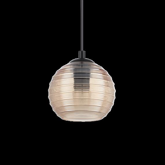 Ideal Lux Riga SP1 Lampa zwisająca bursztynowa mała