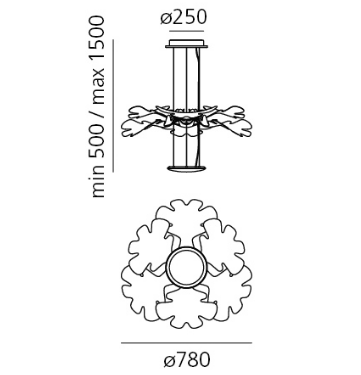 Lampa Led Artemide Chlorophilia 1628010A