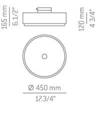 Lampa Sufitowa Estiluz Iris T-2712 czarno/niklowa