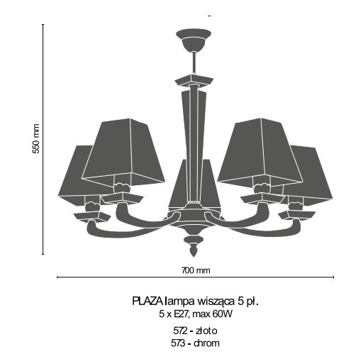 Lampa Wisząca Amplex PLAZA 5pł