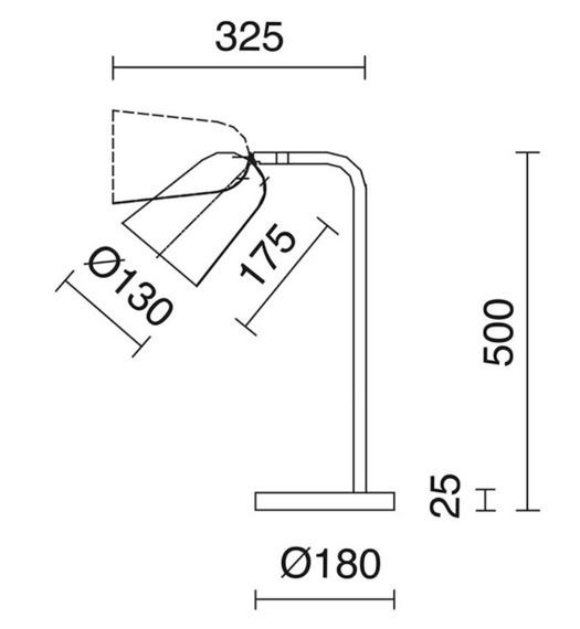 Lampka Astrid 701B-G05X1A-91 Novolux Exo