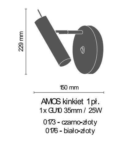 Lampa ścienna Amplex Amos 0173