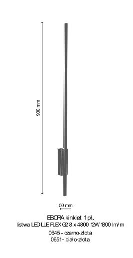 Lampa ścienna Amplex Ebora 0645
