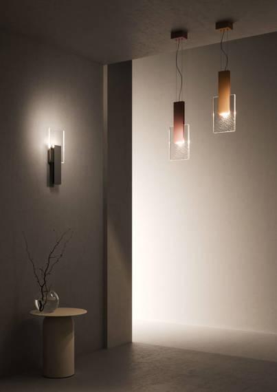Lampa ścienna LED Fabian Amulette Black Chrome 3000 K