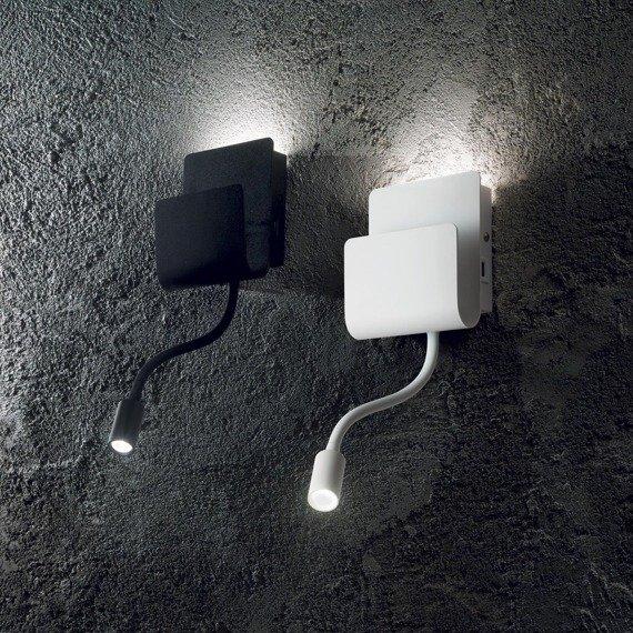 Lampa ścienna LED z USB Ideal Lux Probe AP2 biała