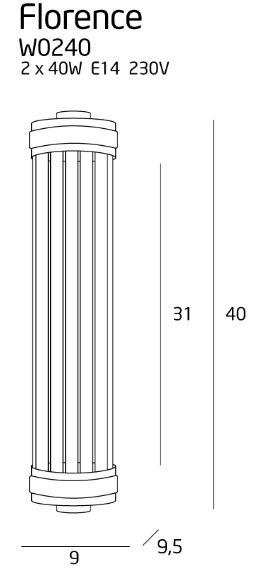 Lampa ścienna MaxLight Florence W0240