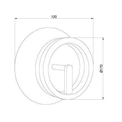 Lampa ścienna Pujol Circular A-204 C