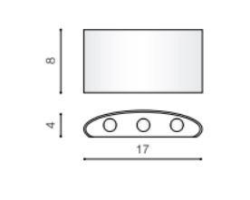 Lampa ścienna zewnętrzna złota Azzardo Ginna 3 IP54 AZ3485