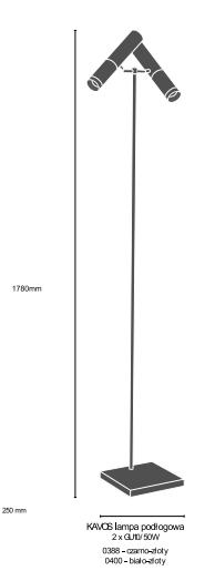 Lampa stojąca Amplex Kavos 0388