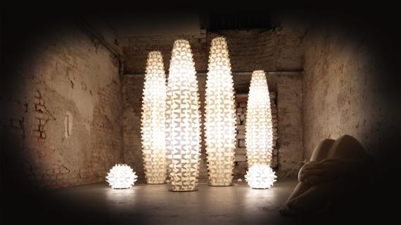 Lampa stojąca Slamp Cactus XL złota
