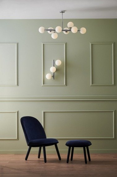 Lampa sufitowa Kaspa Cumulus 3 kolor chrom/biały