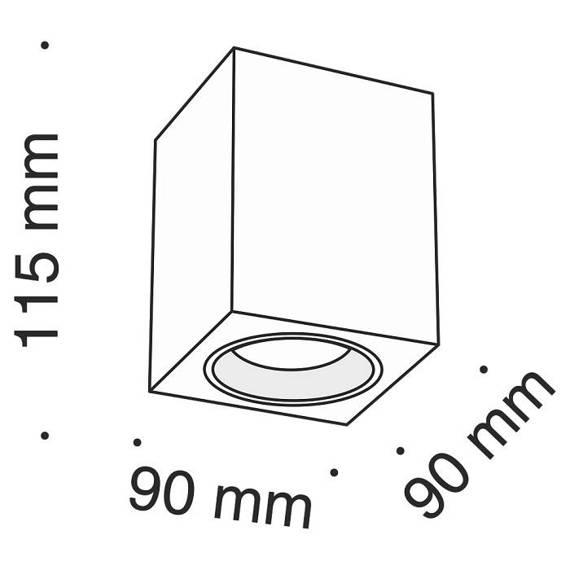 Lampa sufitowa Maytoni Alfa C013CL-01W Biała