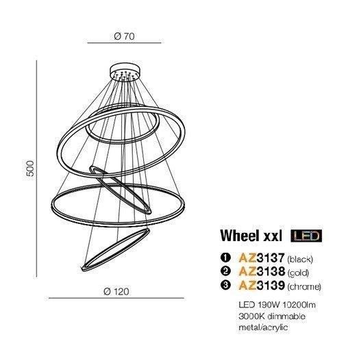 Lampa wisząca LED Azzardo Wheel AZ3417