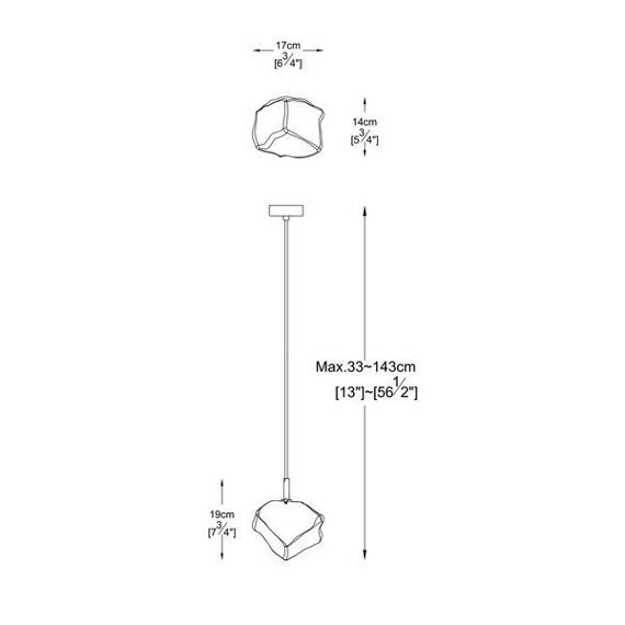 Lampa wisząca Zuma Line Rock P0488-01F-U8AC