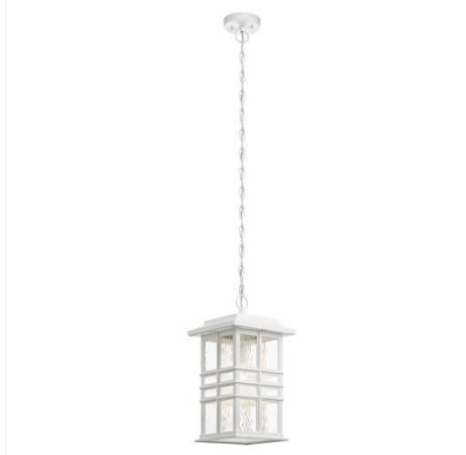 Lampa wisząca zewnętrzna Elstead Lighting Beacon Square KL-BEACON-SQUARE8-WHT