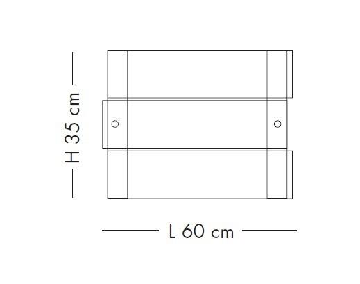 Lampade Italiane CRAZY LS 1037/60P satynowa Lampa Sufitowa 60 cm