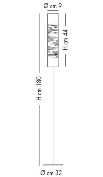 Lampade Italiane DUNE PI 1028/180 white/black Lampa Stojąca