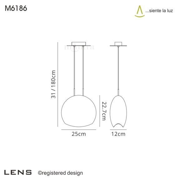Mantra Lens 6186 żyrandol