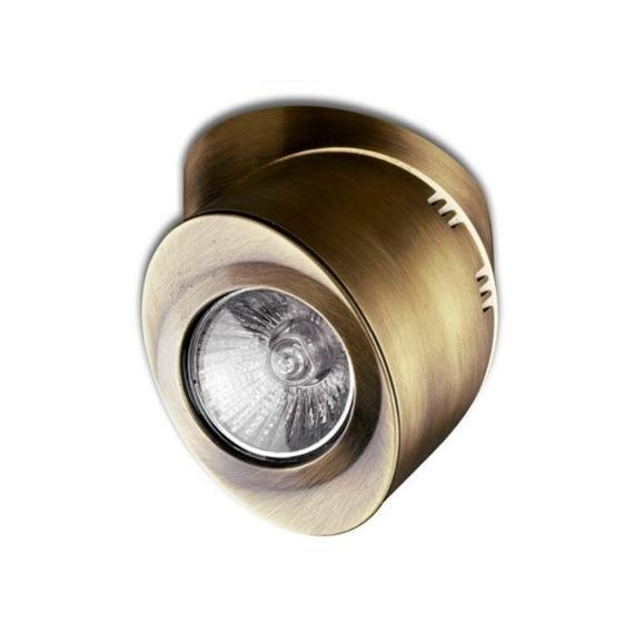 OLE iluminacion Elipse L17014/1CU Antyczny Mosiądz Lampa Ścienna