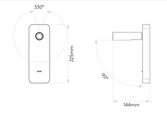 Oprawa Ścienna Astro Enna Surface USB 1058153 w czarnym kolorze