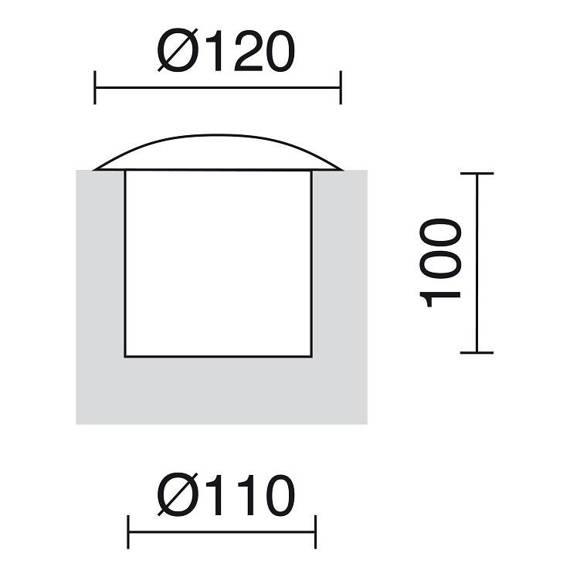 Oprawa gruntowa Novolux Suri S2 302B-L0105B-04