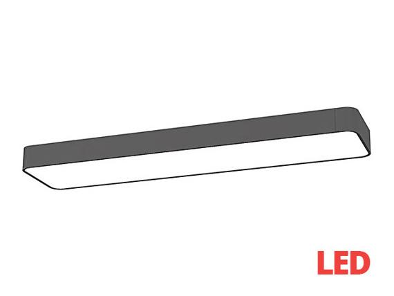 Plafon SOFT LED graphite 60x20 plafon 9532 Nowodvorski