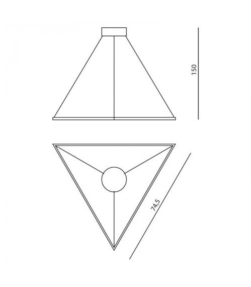 Ramko Origami Zwis Led 67031 biały