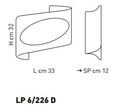 Sillux ATENE LP 6/226 D bursztynowy/miedziany 33 x 32 cm Lampa Ścienna