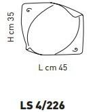 Sillux ATENE LS 4/226 Lampa Sufitowa 45 x 35 cm