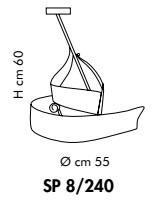 Sillux CAPRI SP 8/240 antyczny bursztyn/miedziany Zwis