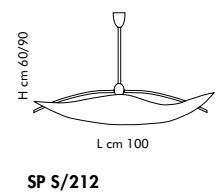 Sillux FIRENZE SP S/212 bursztynowy/miedziany 100 cm Zwis