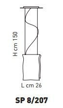 Sillux MURANO SP 8/207 Zwis 26 cm