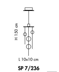 Sillux NIAGARA SP 7/236 10 przezroczysty Zwis