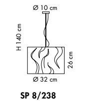 Sillux VENEZIA SP 8/238 02/01 satynowo-biały Zwis